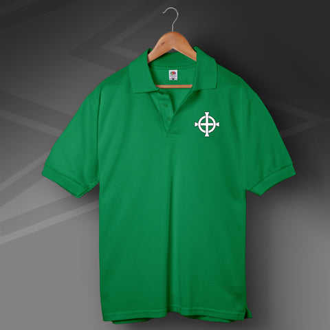 Retro Northern Ireland Polo Shirt with Embroidered Badge