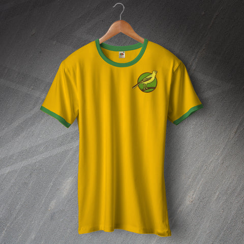 Norwich Football Shirt Embroidered Ringer 1902