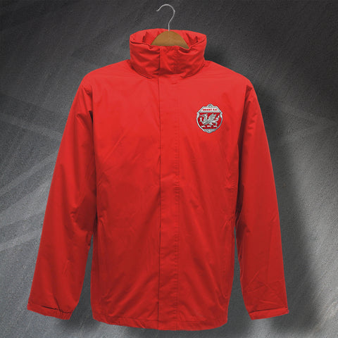 Retro Orient Waterproof Jacket with Embroidered Badge