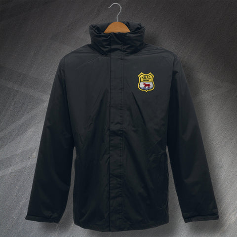 Retro Oxford Waterproof Jacket with Embroidered Headington United 1949 Badge
