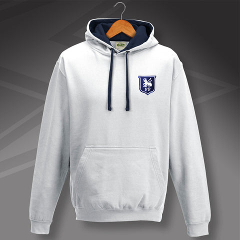 Retro Preston Contrast Hoodie with Embroidered Badge