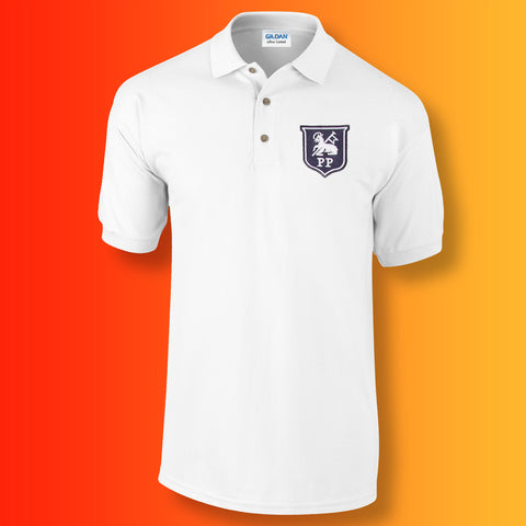 Retro Preston Polo Shirt with Embroidered Badge