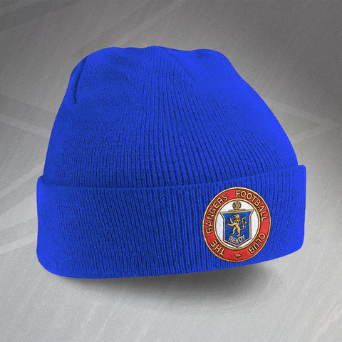 Rangers Football Beanie Hat Embroidered 1959