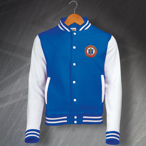 Rangers Retro Varsity Jacket with Embroidered Badge