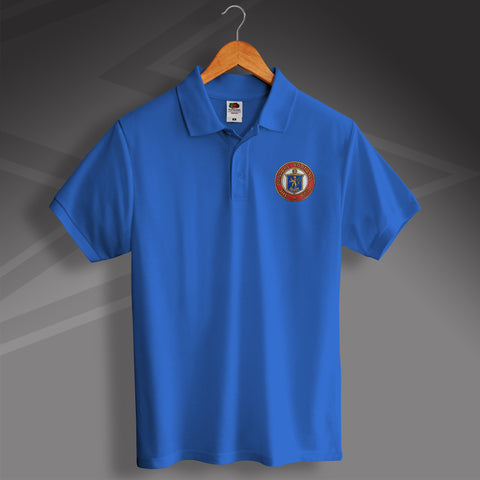 Rangers Football Polo Shirt Embroidered 1959