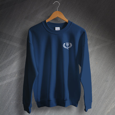 Retro Scotland Rugby Sweatshirt with Embroidered Badge
