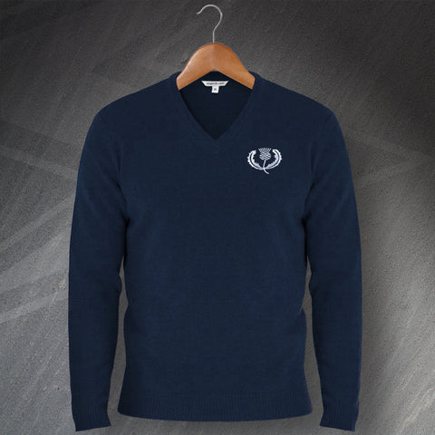 Scotland Rugby Jumper Embroidered V-Neck 1925