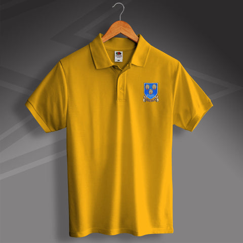 Retro Shrewsbury Polo Shirt with Embroidered Badge