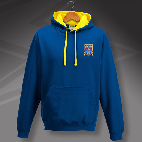 Shrewsbury Football Hoodie Embroidered Contrast 1993