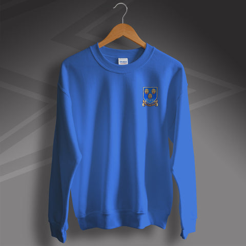 Retro Shrewsbury Sweater with Embroidered Badge