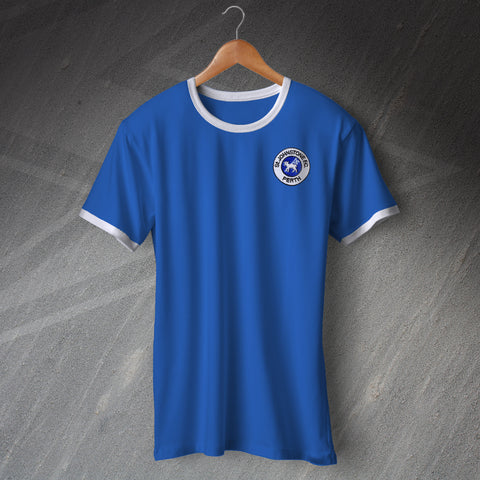 St Johnstone Football Shirt Embroidered Ringer 1980