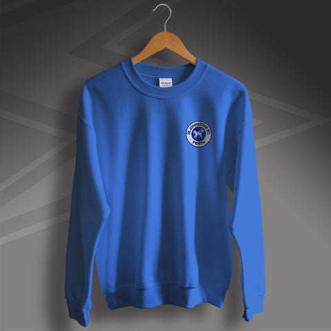 St Johnstone Football Sweatshirt Embroidered 1980