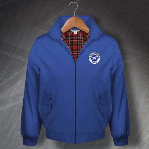St Johnstone Football Harrington Jacket Embroidered 1980