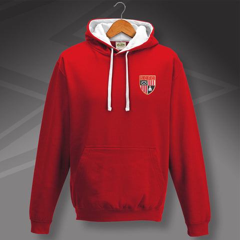 Stoke Football Hoodie Embroidered Contrast 1977