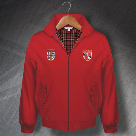 Stoke Football Harrington Jacket Embroidered 1953 & 1977