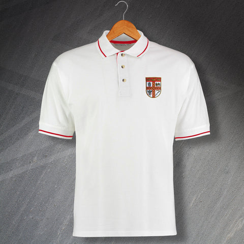 Stoke Football Polo Shirt Embroidered Contrast 1953