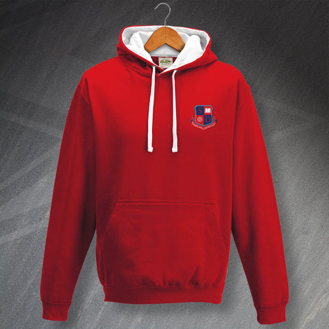 Retro Sunderland and District Teachers AFC Contrast Hoodie with Embroidered Badge