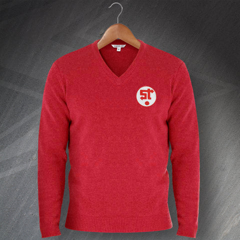 Swindon Football Jumper Embroidered V-Neck 1981