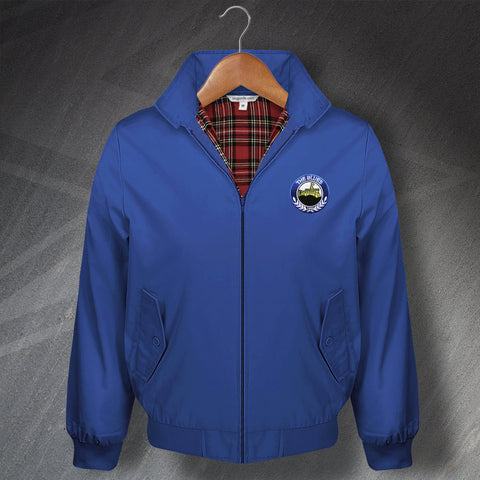 Retro Linfield Classic Harrington Jacket with Embroidered Badge