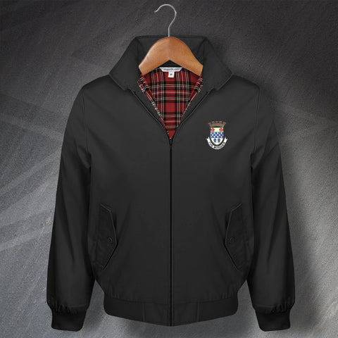 Retro Buddies Classic Harrington Jacket with Embroidered Badge