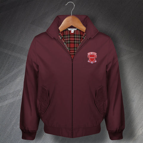 Retro The Iron Classic Harrington Jacket with Embroidered Badge