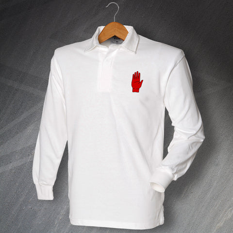 Ulster Rugby Shirt Embroidered Long Sleeve