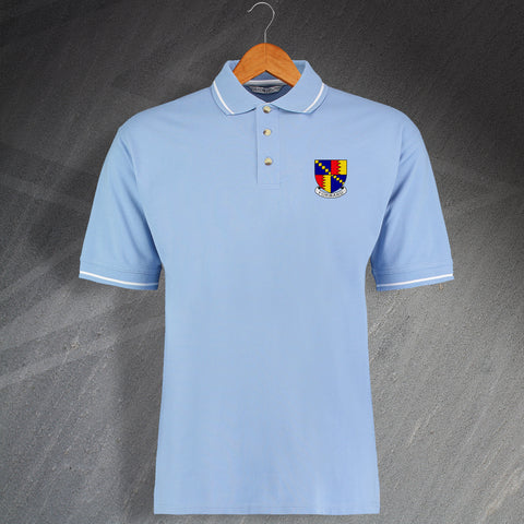 Villa Football Polo Shirt Embroidered Contrast 1886