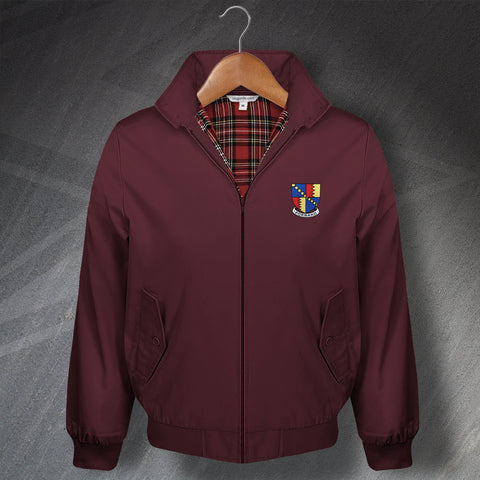 Villa Football Harrington Jacket Embroidered 1886