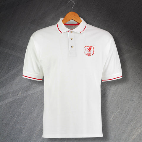 Retro Wales Embroidered Contrast Polo Shirt