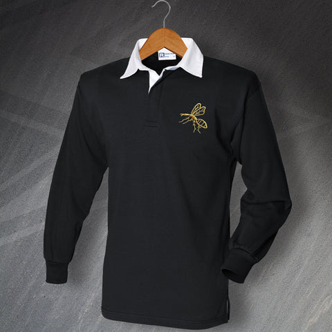 Wasps Rugby Shirt Embroidered Long Sleeve 1867
