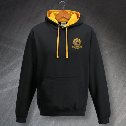 Retro Wolves Contrast Hoodie with Embroidered 1921 Badge