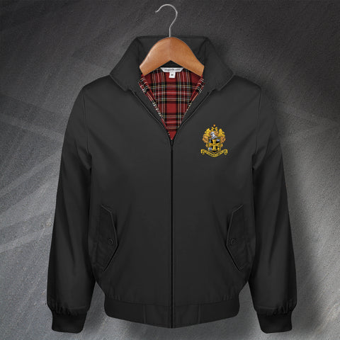 Retro Wolves Classic Harrington Jacket with Embroidered 1921 Badge