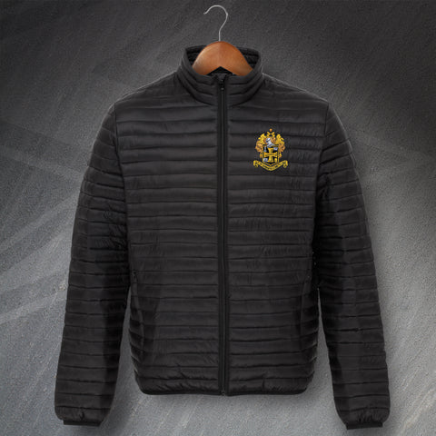 Retro Wolves Fineline Padded Jacket with Embroidered 1921 Badge
