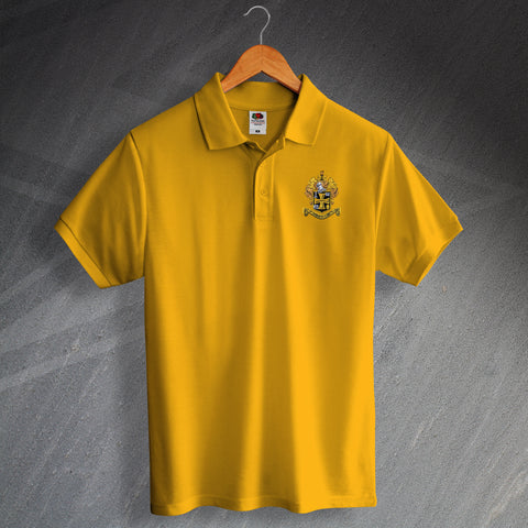 Retro Wolves Polo Shirt with Embroidered 1921 Badge