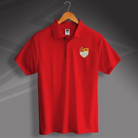Retro Wrexham Polo Shirt with Embroidered Badge