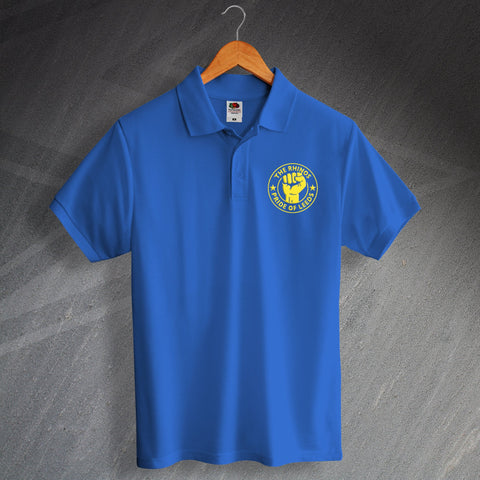 The Rhinos Rugby Polo Shirt Embroidered Pride of Leeds
