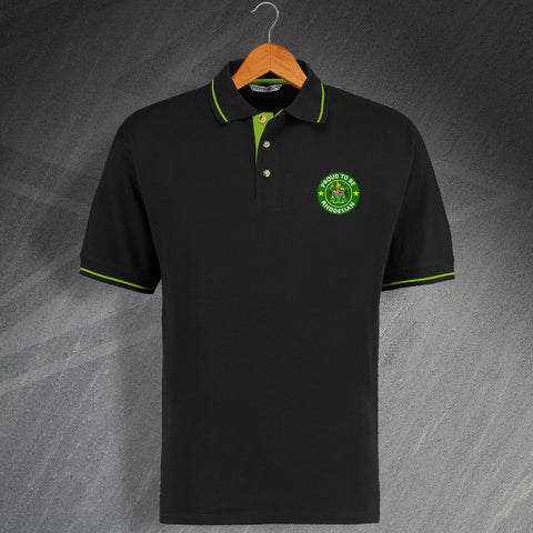 Rhodesia Polo Shirt Embroidered Contrast Proud to Be Rhodesian