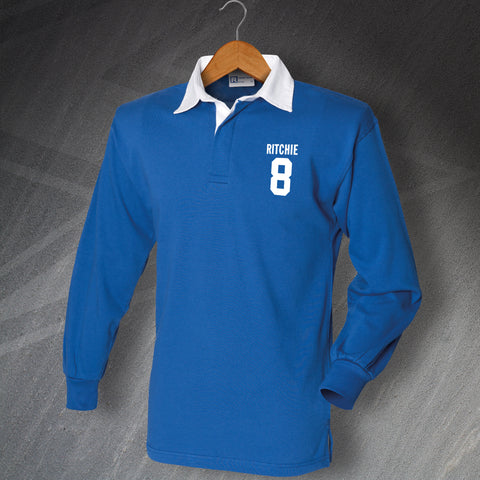 Oldham Football Shirt Embroidered Long Sleeve Ritchie 8