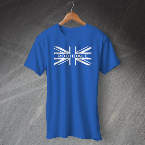 Rochdale Football T-Shirt Union Jack