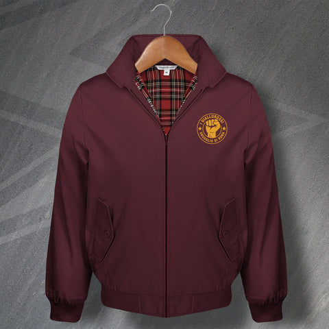 Roma Football Harrington Jacket Embroidered I Giallorossi Orgoglio di Roma