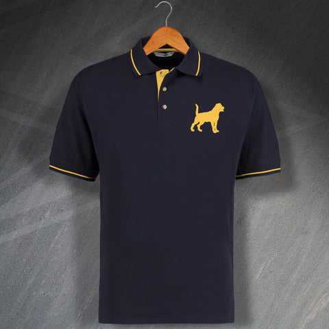 Rottweiler Embroidered Contrast Polo Shirt