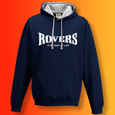 Rovers Contrast Hoodie with It's a Way of Life Design