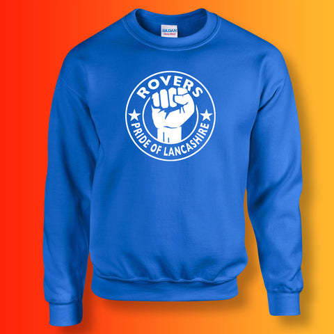 Rovers Sweater with The Pride of Lancashire Design Royal