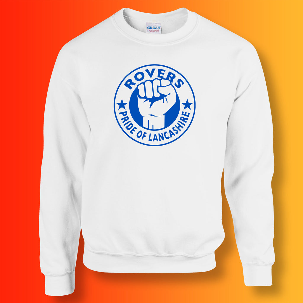 Rovers Sweater with The Pride of Lancashire Design White