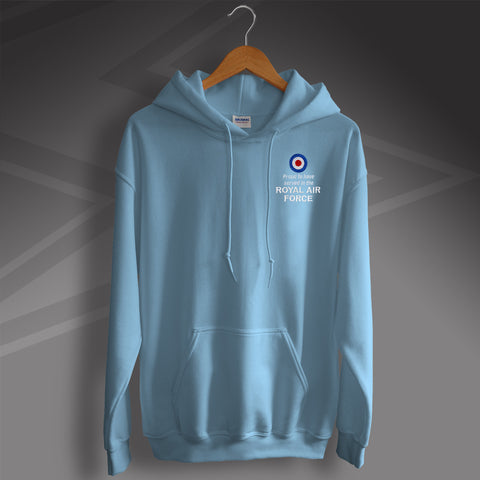Proud to Have Served In The Royal Air Force Embroidered Hoodie