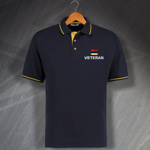 Royal Army Medical Corps Veteran Embroidered Contrast Polo Shirt