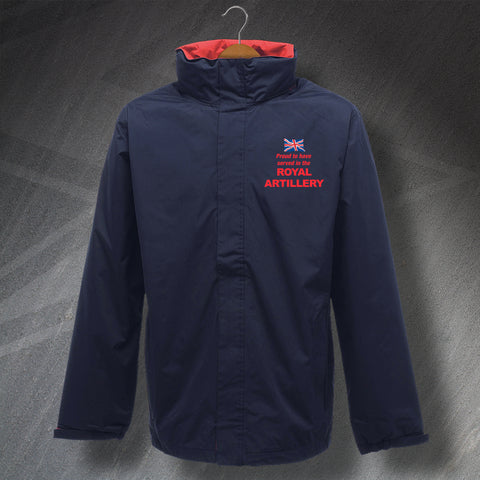 Royal Artillery Jacket Embroidered Waterproof Proud to Have Served