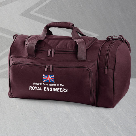 Proud to Have Served In The Royal Engineers Embroidered Universal Holdall
