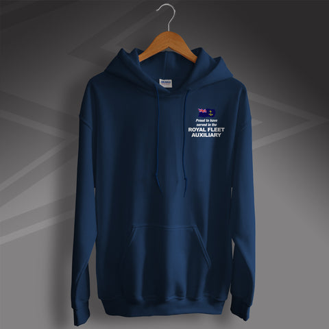Proud to Have Served In The Royal Fleet Auxiliary Printed Hoodie