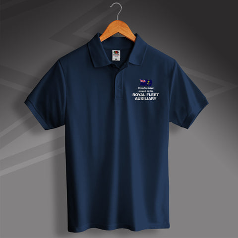Royal Fleet Auxiliary Polo Shirt Embroidered Proud to Have Served